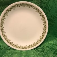 Crazy Daisy Corelle Spring Blossom Green Vintage Plate Lead Safe Mama 4