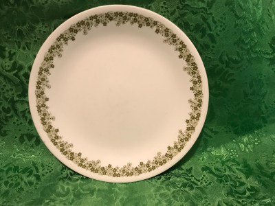 Vintage Corelle Plate With Crazy Daisy Spring Blossom Green Edge: 15,200 ppm Lead [90 is unsafe for kids] + Cadmium