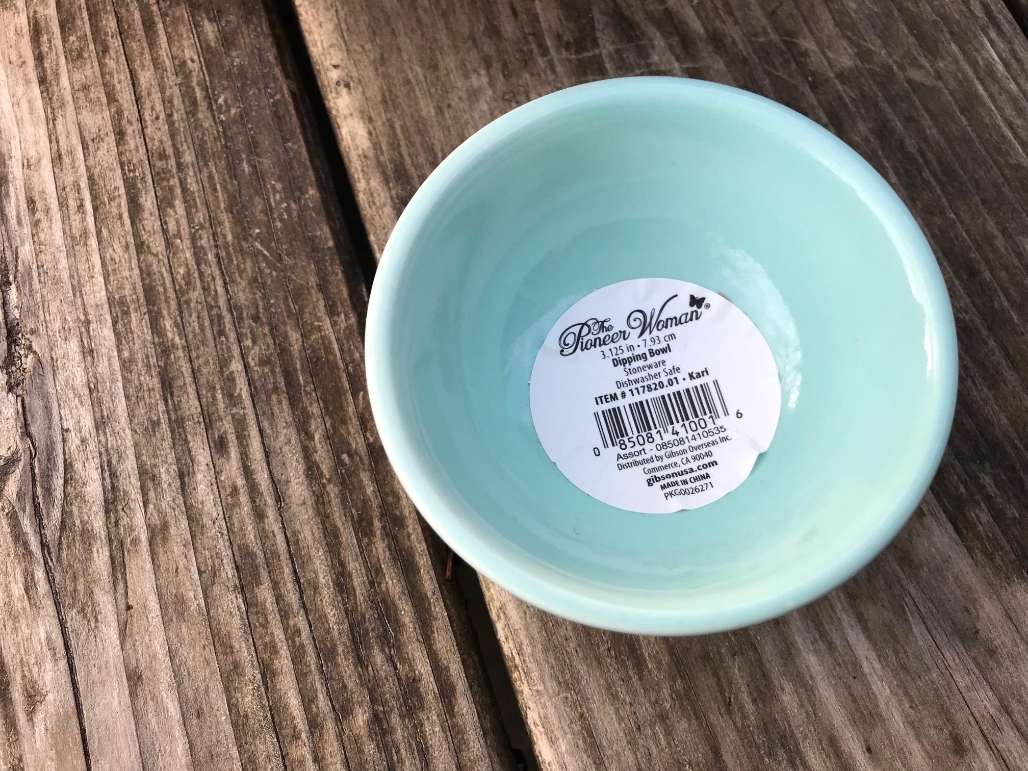 Pioneer Woman Kari Pattern Dipping Bowl: as high as 2,299 ppm Lead