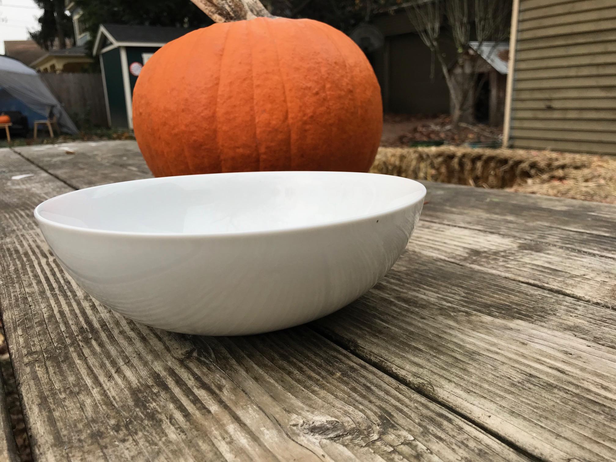 Large White Ceramic Crate & Barrel Martin Hunt Bistro Bowl