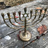 My Grandparents Leaded Brass Chanukah Menorah Tamara Rubin Lead Safe Mama 5