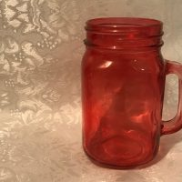 Red Glass Dollar Tree Mug 2018 Lead Safe Mama 1