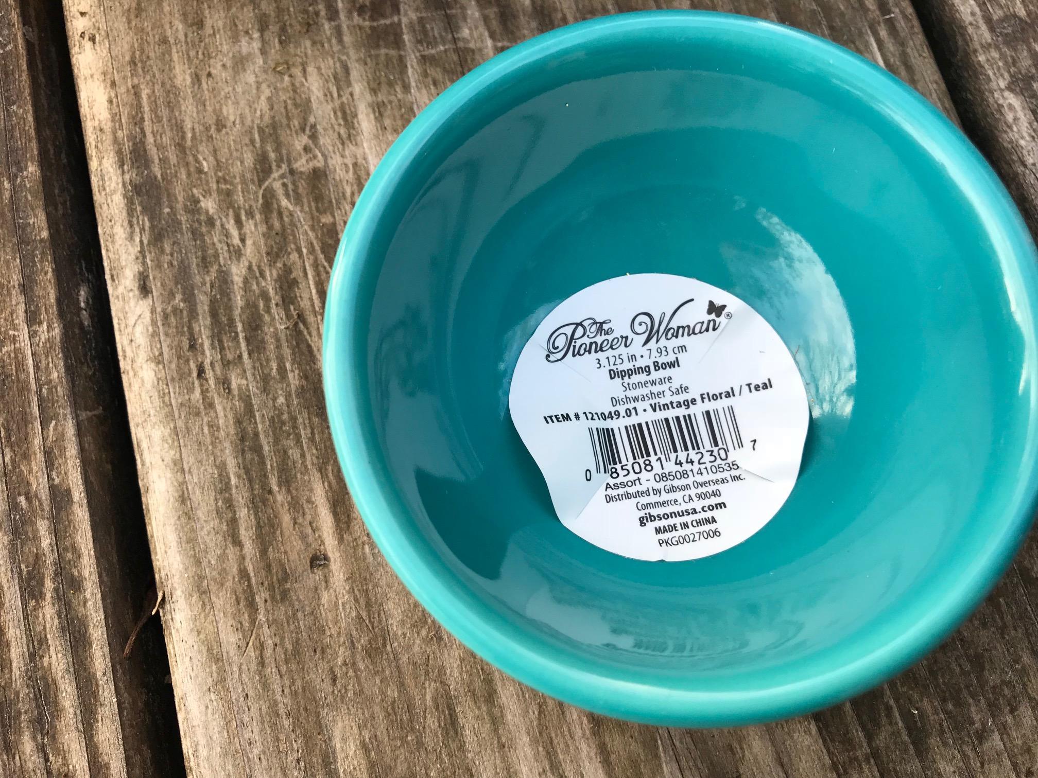 Pioneer Woman Vintage Floral / Teal Dipping Bowl: as high as 6,140 ppm Lead