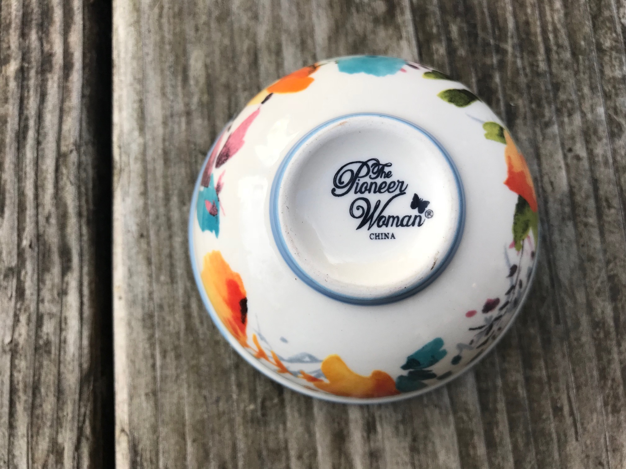 Pioneer Woman Willow Pattern Dipping Bowl: as high as 1,858 ppm Lead