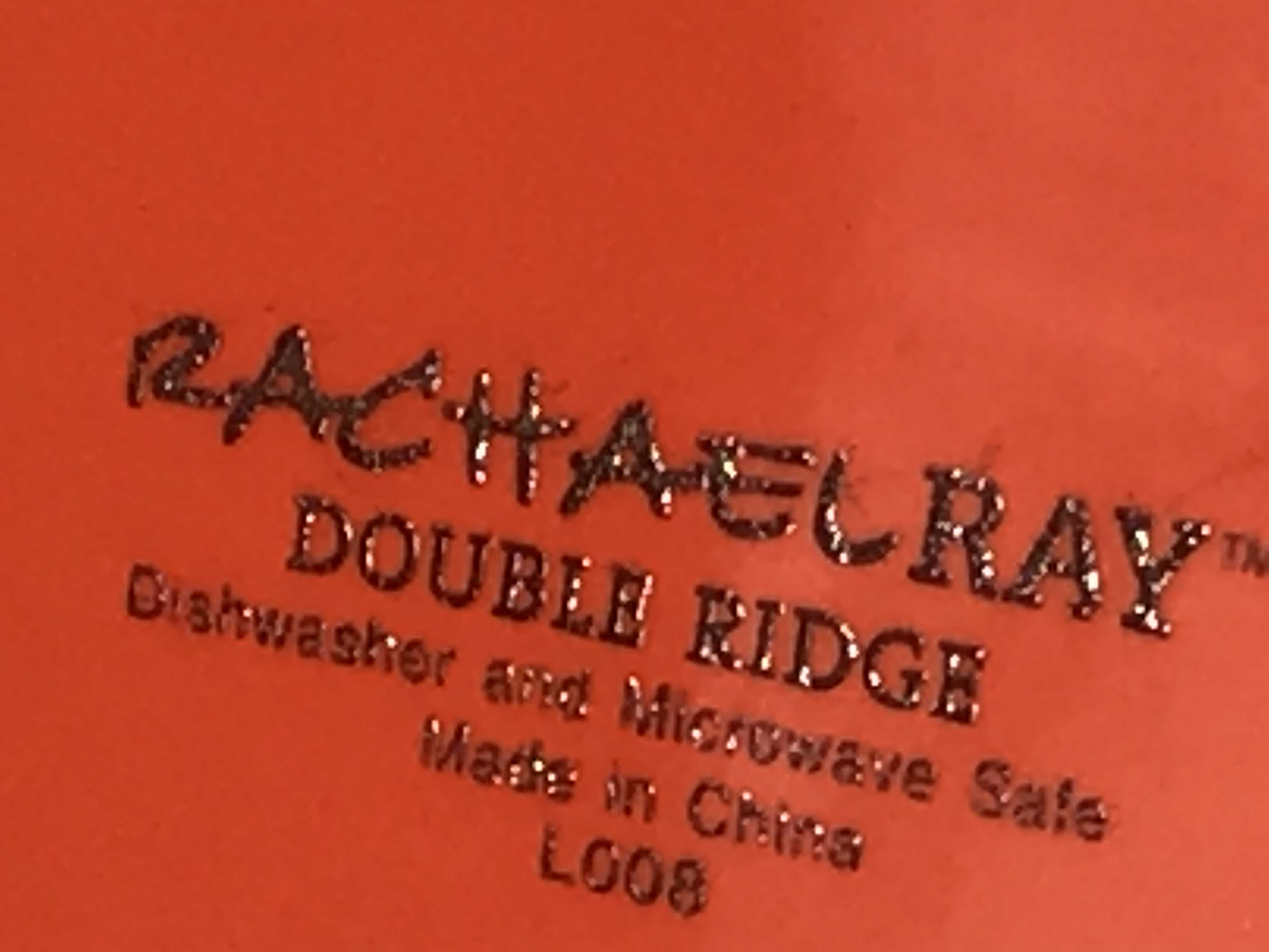 "2018 Dollar Tree Store Rachael Ray Orange Glazed ""Double Ridge"" Ceramic Plate: 985 ppm Cadmium"