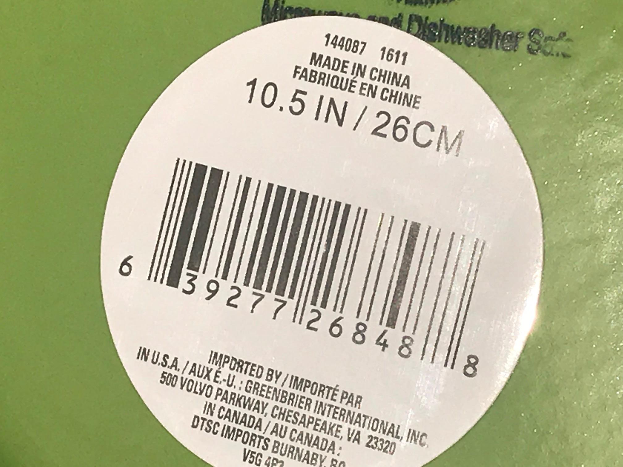 "2018 Dollar Tree Store Royal Norfolk Green Glazed Ceramic Plate With Ridges: 31 ppm Lead (""Lead Safe"")"