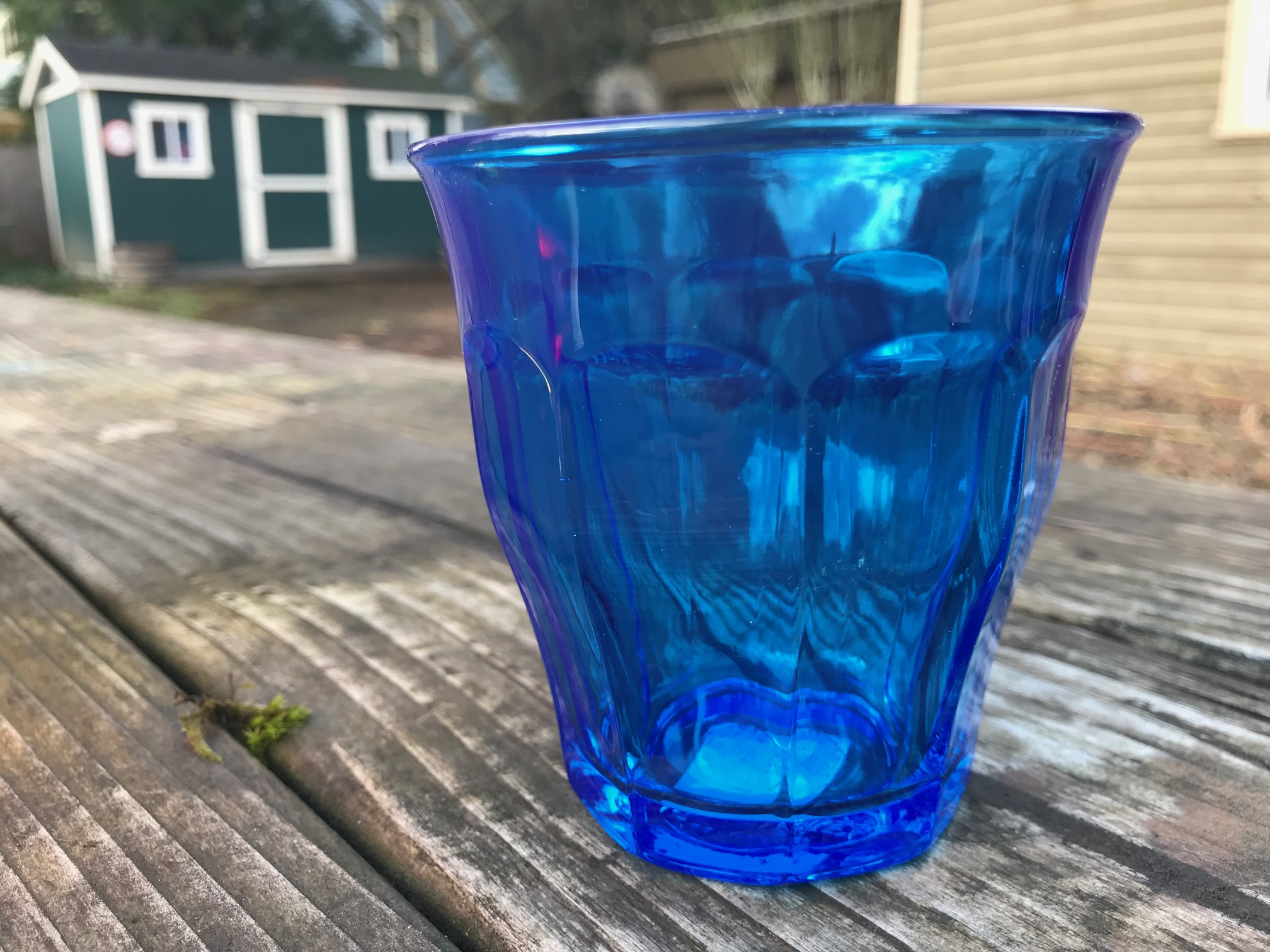 Blue Duralex Picardie Colors Tumbler from Rainbow Set: Lead-Free, Arsenic-Free, Cadmium-Free and Mercury-Free!