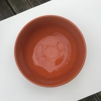 Orange Royal Norfolk Dollar Tree Bowl Lead Safe Mama 1