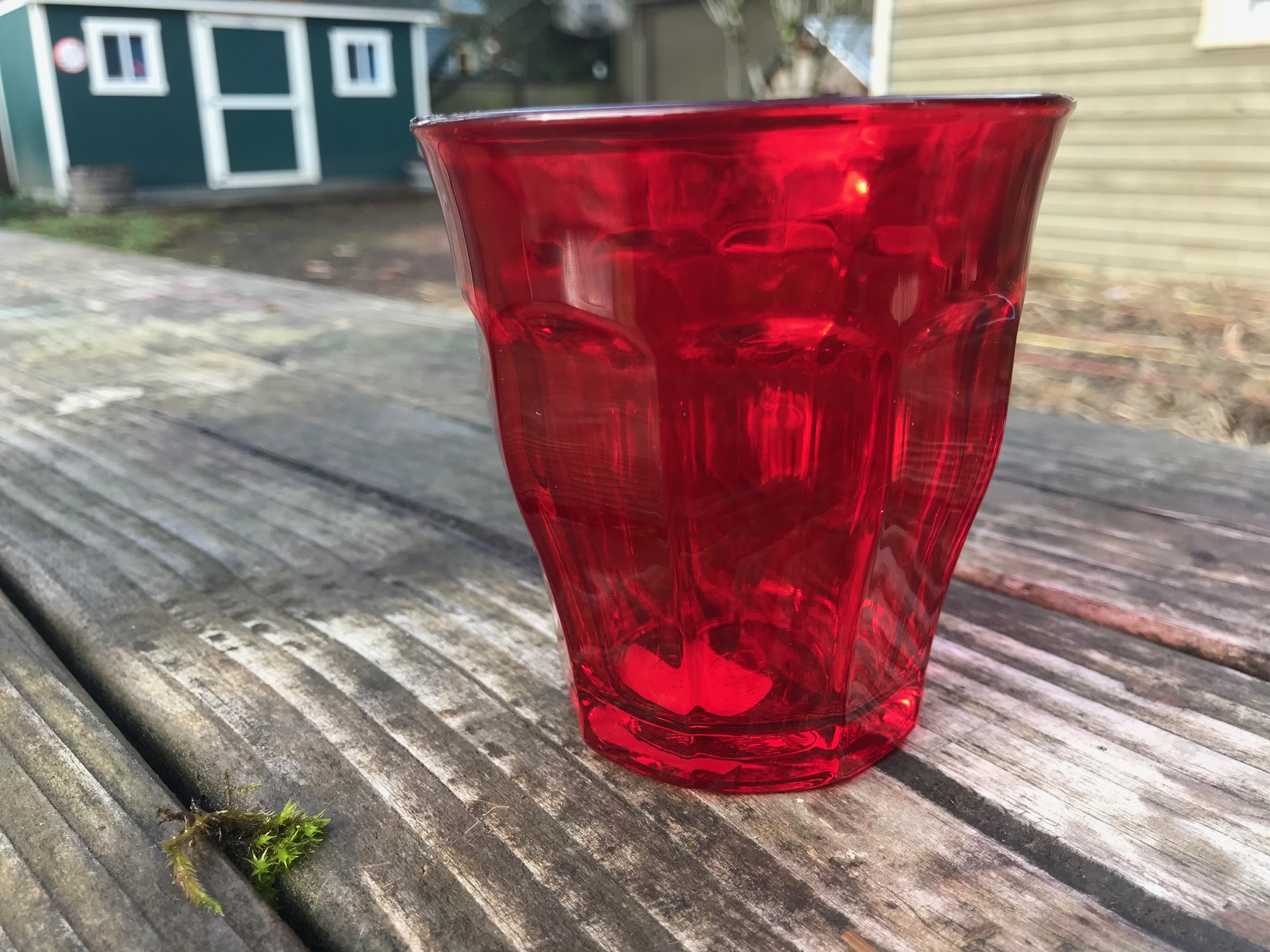Red Duralex Picardie Colors Tumbler: Lead-Free, Arsenic-Free, Cadmium-Free and Mercury-Free!