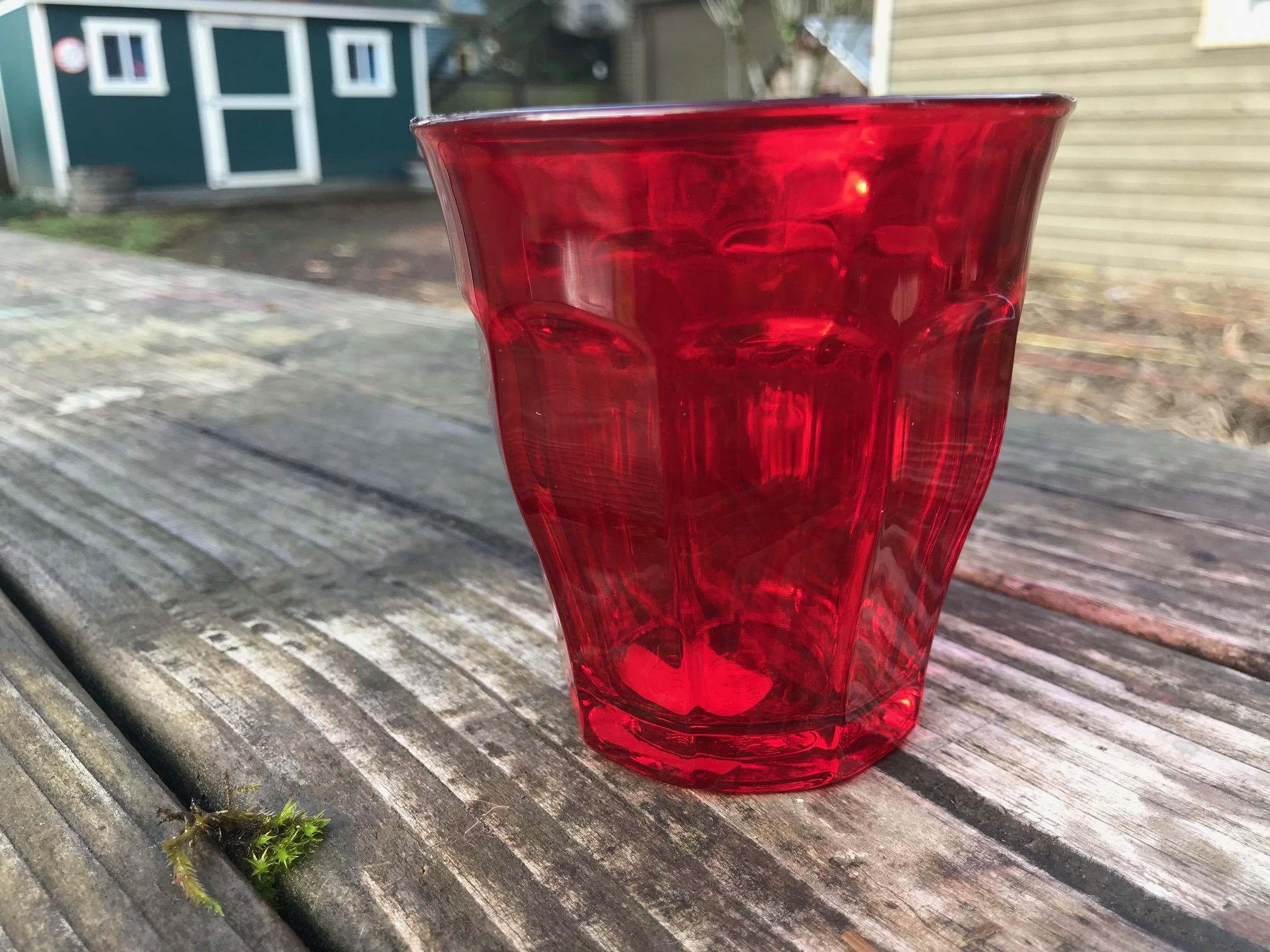 Red Duralex Picardie Colors Tumbler: Lead-Free, Arsenic-Free, Cadmium-Free and Mercury-Free!