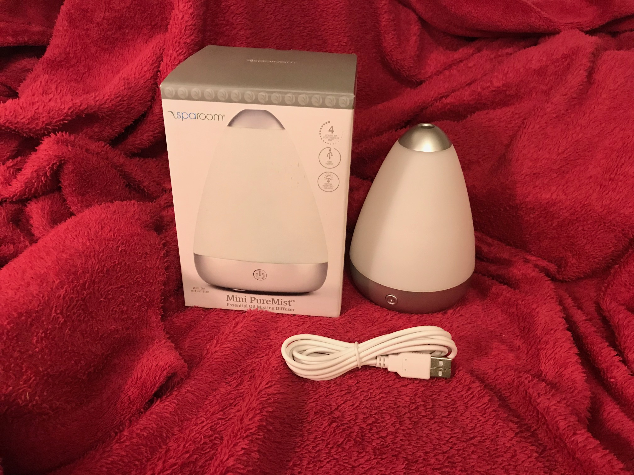 Sparoom Mini PureMist Essential Oil Diffuser, New In Box (2018) from Target: Lead Free In All Accessible Components.
