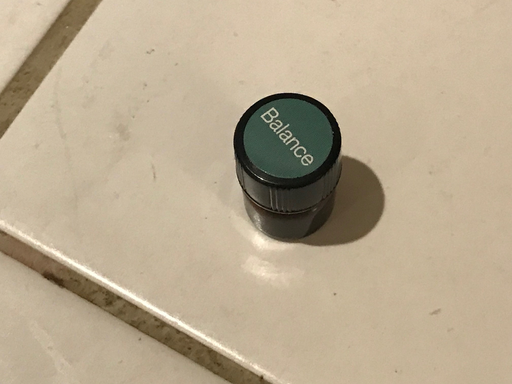 Tiny Brown Glass Sample Bottle of doTerra Balance Oil: Non-Detect for Lead, 20 ppm Cadmium (test is of bottle, not contents)