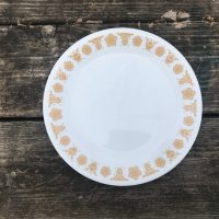 Vintage Corelle Butterfly Gold Pattern Glass Plate Lead Safe Mama 1