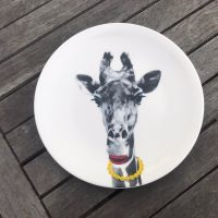 Wild Dining JustMustard Giraffe Childrens Plate Lead Safe Mama 1