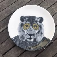 Wild Dining JustMustard Lion Childrens Plate Lead Safe Mama 1
