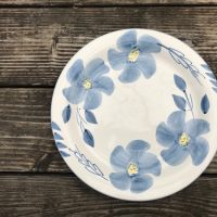 99 Cent Store 1999 Blue and White Flower Plate Lead Safe Mama 1