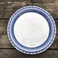 Dansk Bistro Cafe Belgian Blue Ceramic Plate Lead Safe Mama 1