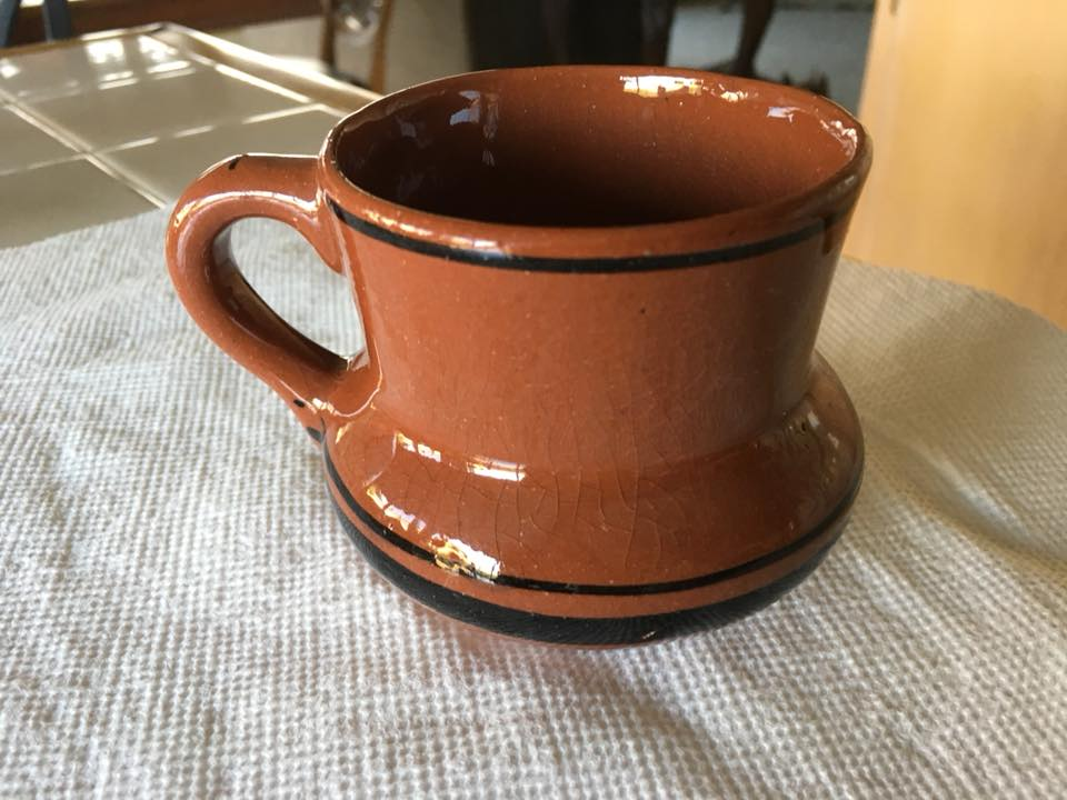Made In Mexico Vintage Antique Glazed Ceramic Mug