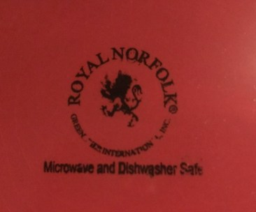 Dollar Tree Store Royal Norfolk Burgundy Ceramic Plate: 339 ppm Lead + 52 ppm Cadmium