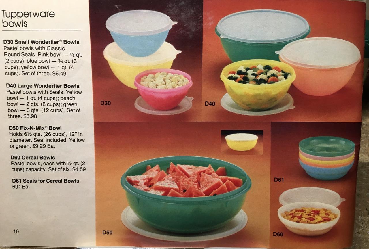 1982 Toxic Tupperware Tupperware Bowls Lead Safe Mama