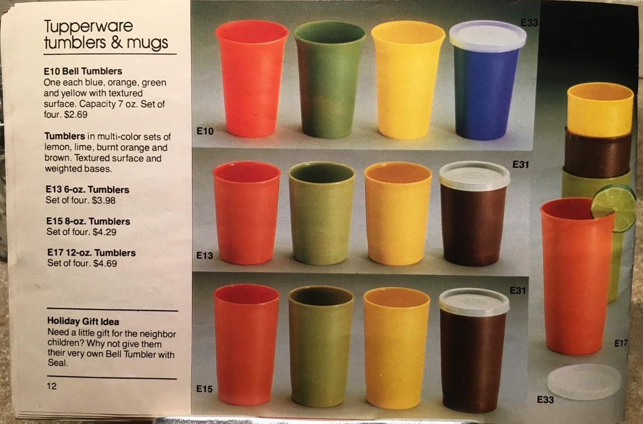 1982 Tupperware Tumblers and Mugs Toxic Tupperware Lead Safe Mama