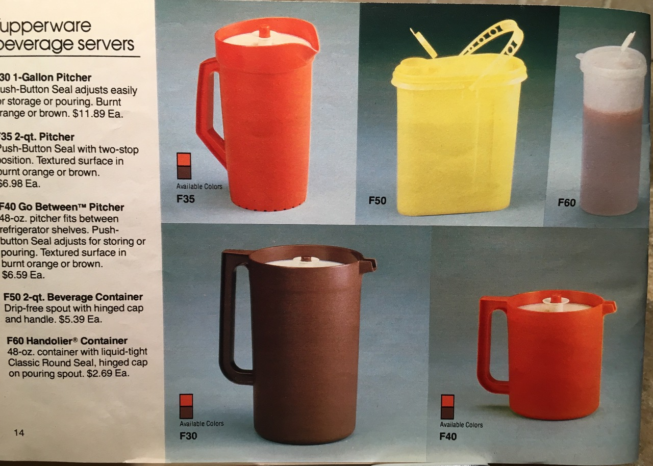 1982 Tupperware Beverage Servers Toxic Tupperware Lead Safe Mama