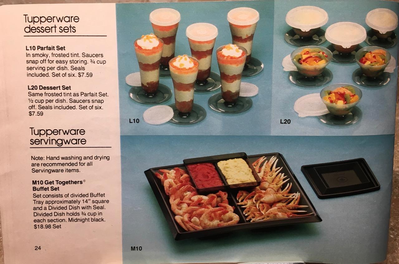 1982 Tupperware Dessert Sets Lead Safe Mama Vintage Toxic Tupperware