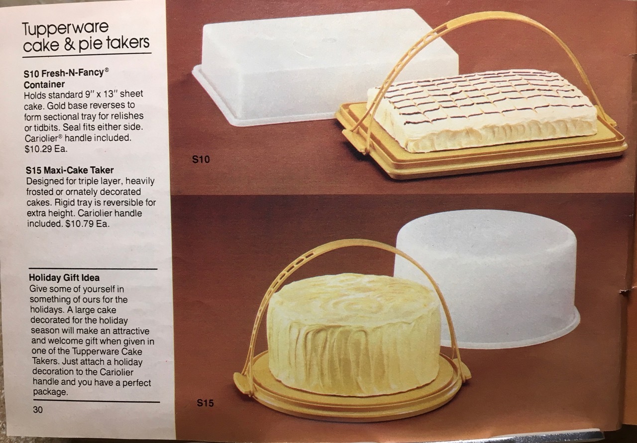 1982 Tupperware Cake & Pie Takers Toxic Tupperware Lead Safe Mama