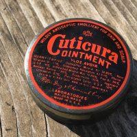 Cuticuria Ointment Vintage Tin Lead Safe Mama 2