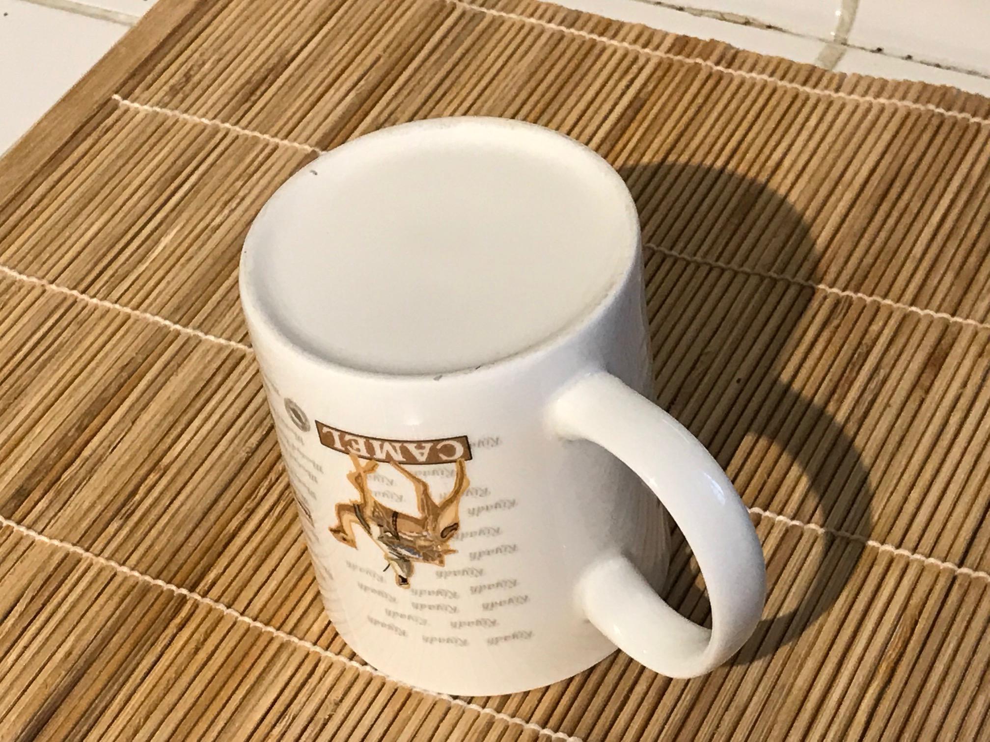 Souvenir Mug from Riyadh Saudi Arabia (of all places!) airport souvenir purchase: 21,300 ppm Lead.