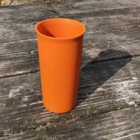 Orange Tall Skinny Tupperware Cup Lead Safe Mama 1