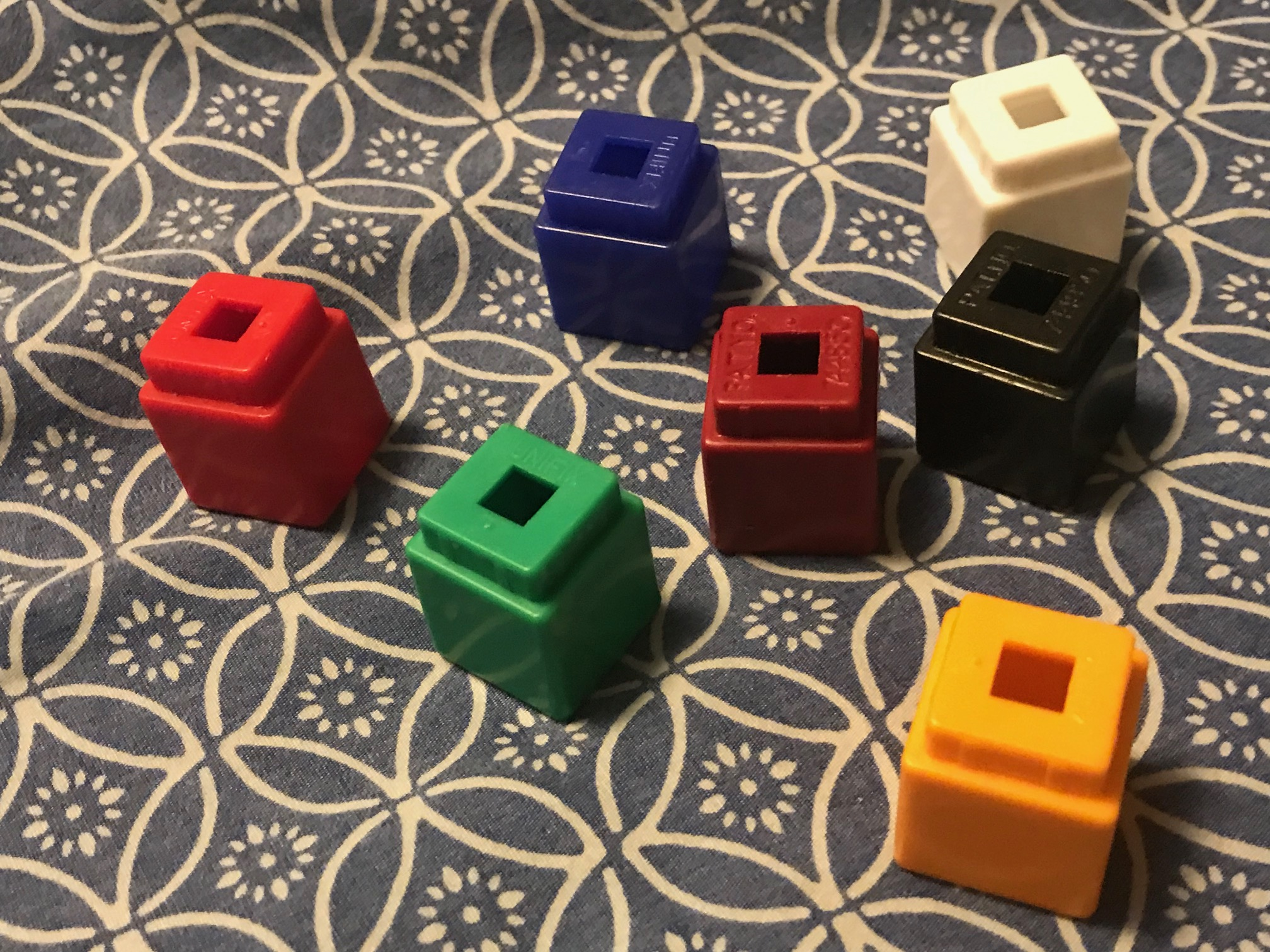 Unifix Math Counting Blocks Teaching Aid from Portland Public Schools: 1330 ppm Cadmium + 7 ppm Arsenic [Cadmium is a known carcinogen.]