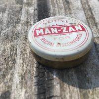 Vintage Man-Zan Tin for Rectal Discomforts Lead Safe Mama 2