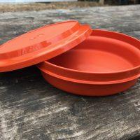 Vintage Orange Tupperware Bowl With Lid Lead Safe Mama 6