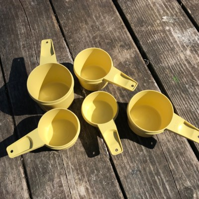 Stop using your vintage Tupperware NOW. These measuring cups are positive for 2,103 ppm Lead + 250 ppm Arsenic.
