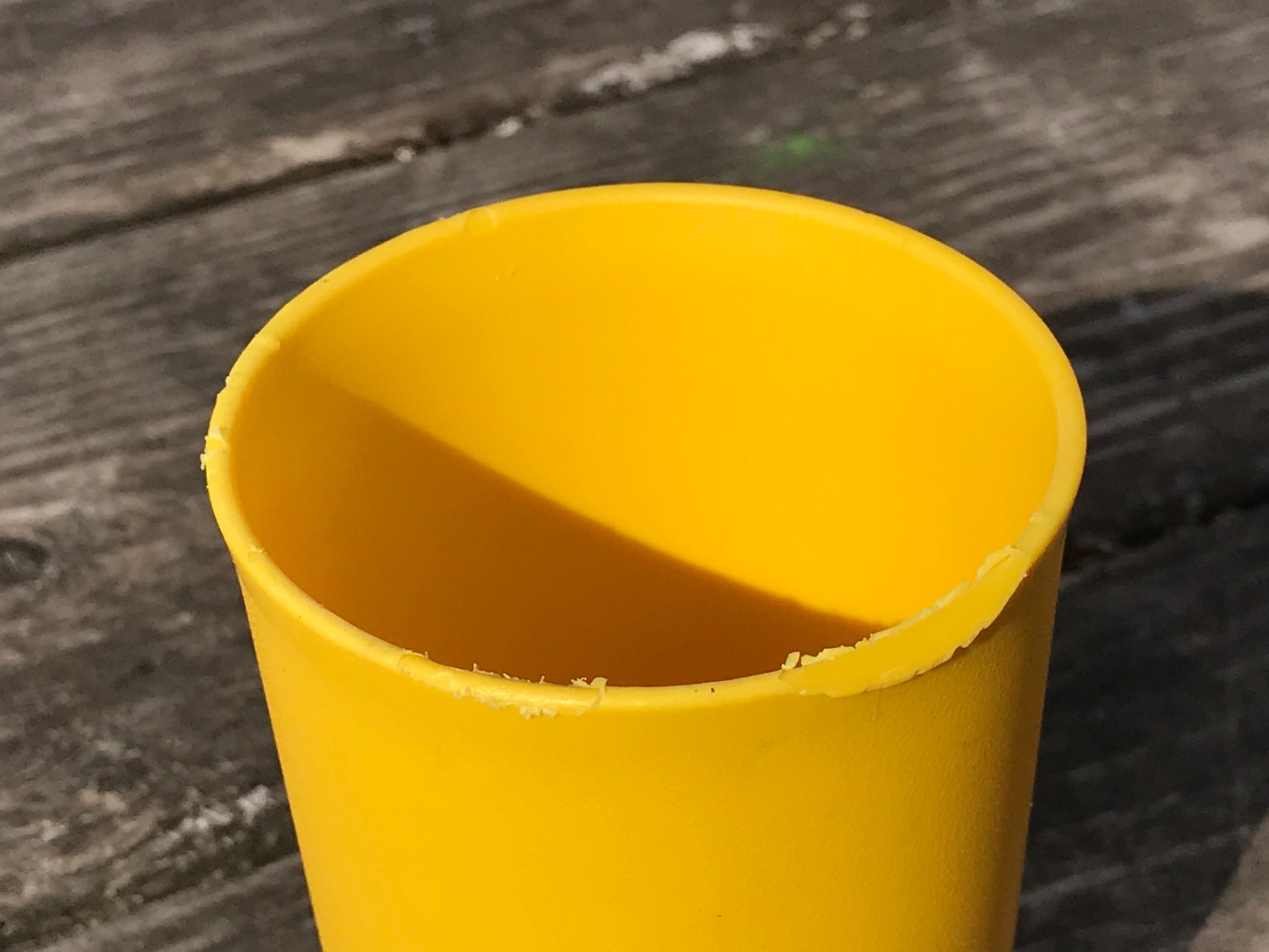 Yellow Tupperware Cup (year unknown): Non-detect for Lead, Mercury, Cadmium and Arsenic.