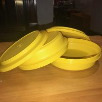 Yellow VIntage Tupperware Bowl Lead Safe Mama 1