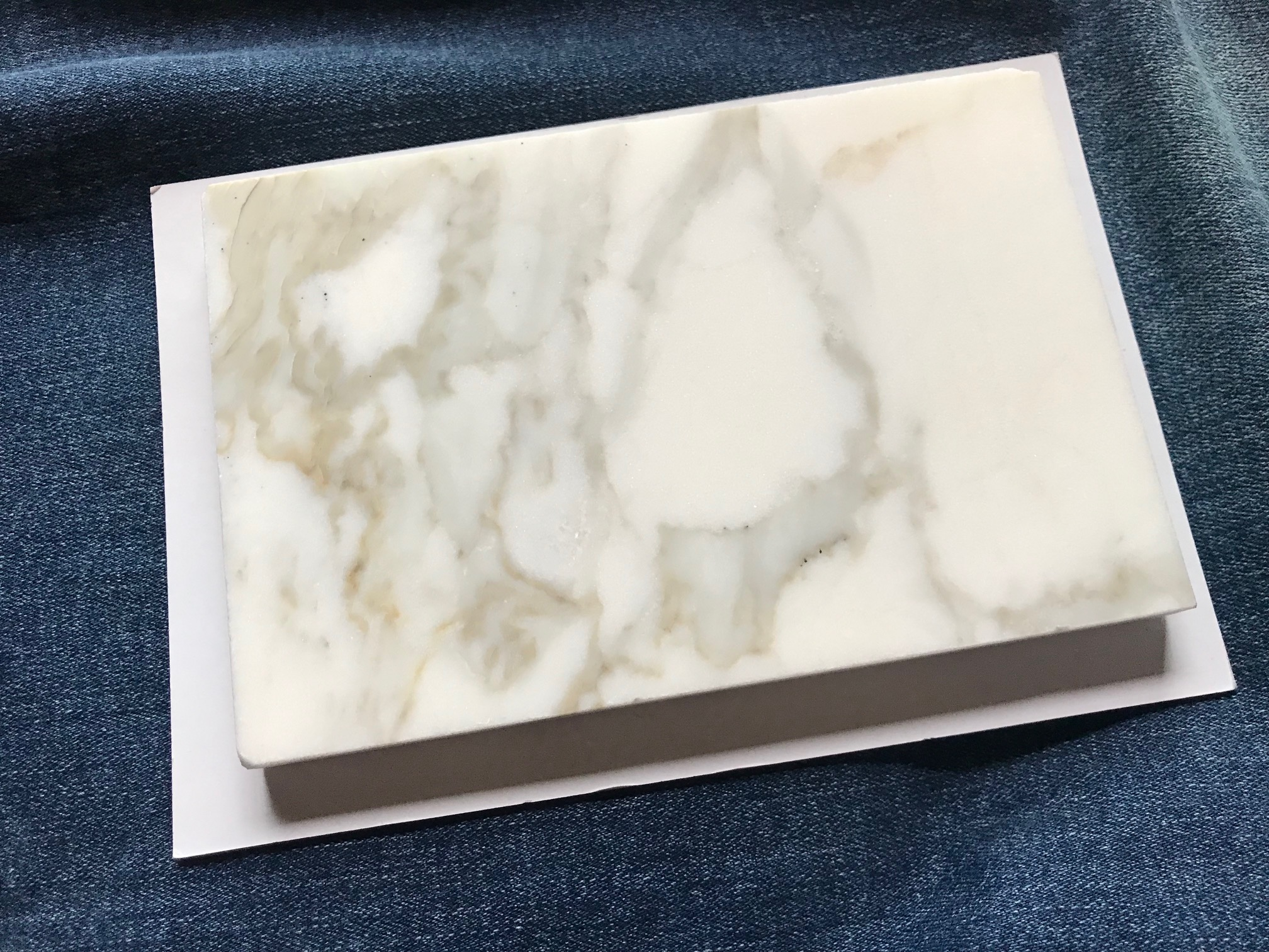Calacatt Gold Polished Marble tile from tilebar: non-detect (negative) for Lead, Cadmium, Mercury and Arsenic