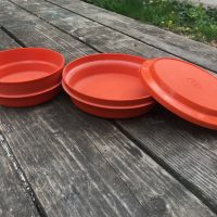 Two Orange Tupperware Bowls Lead Safe Mama 2