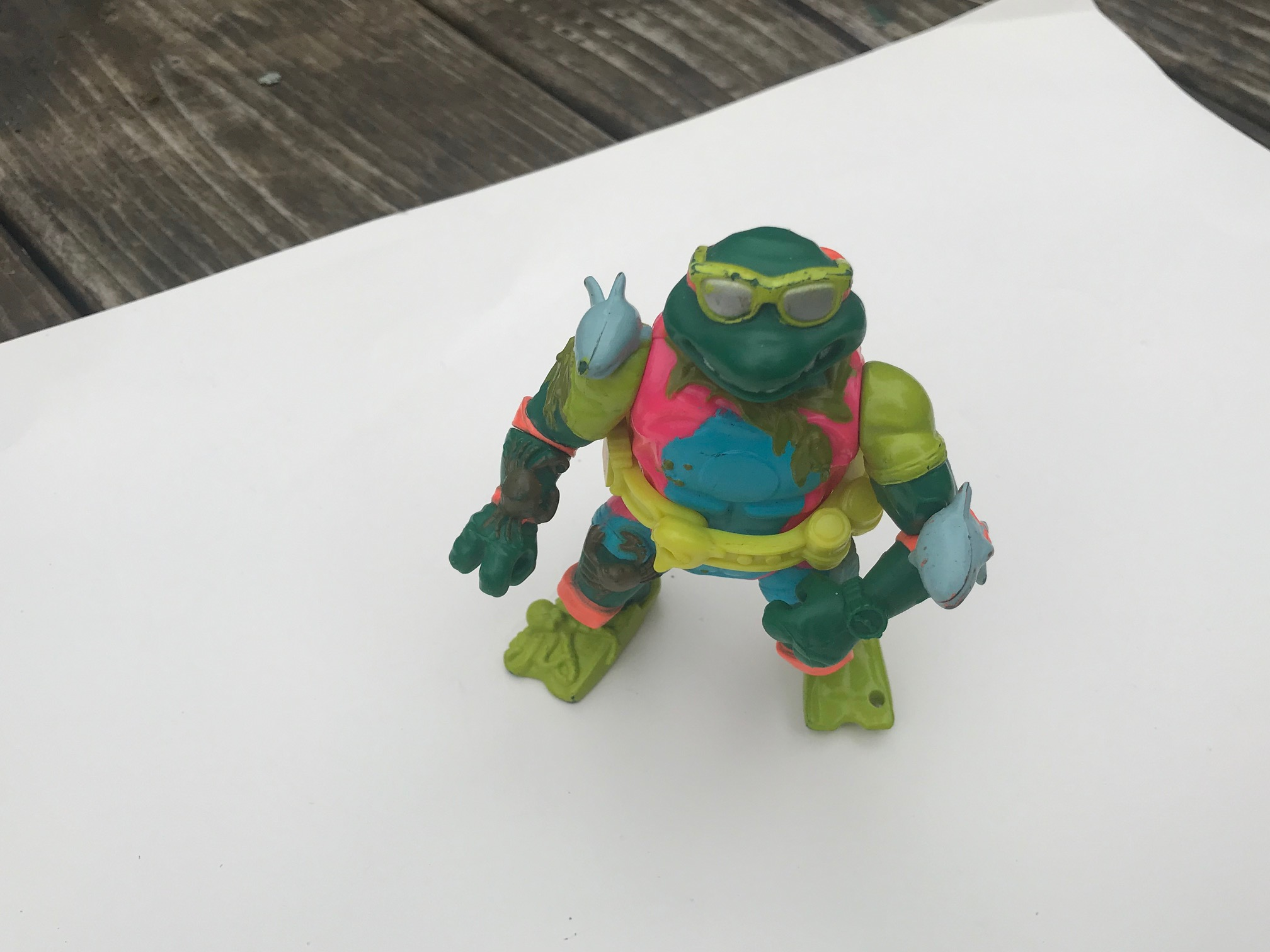 1990 Mirage Studios Playmates Toys Teenage Mutant Ninja Turtle Figurine: Lead Free, Cadmium Free, Arsenic Free!