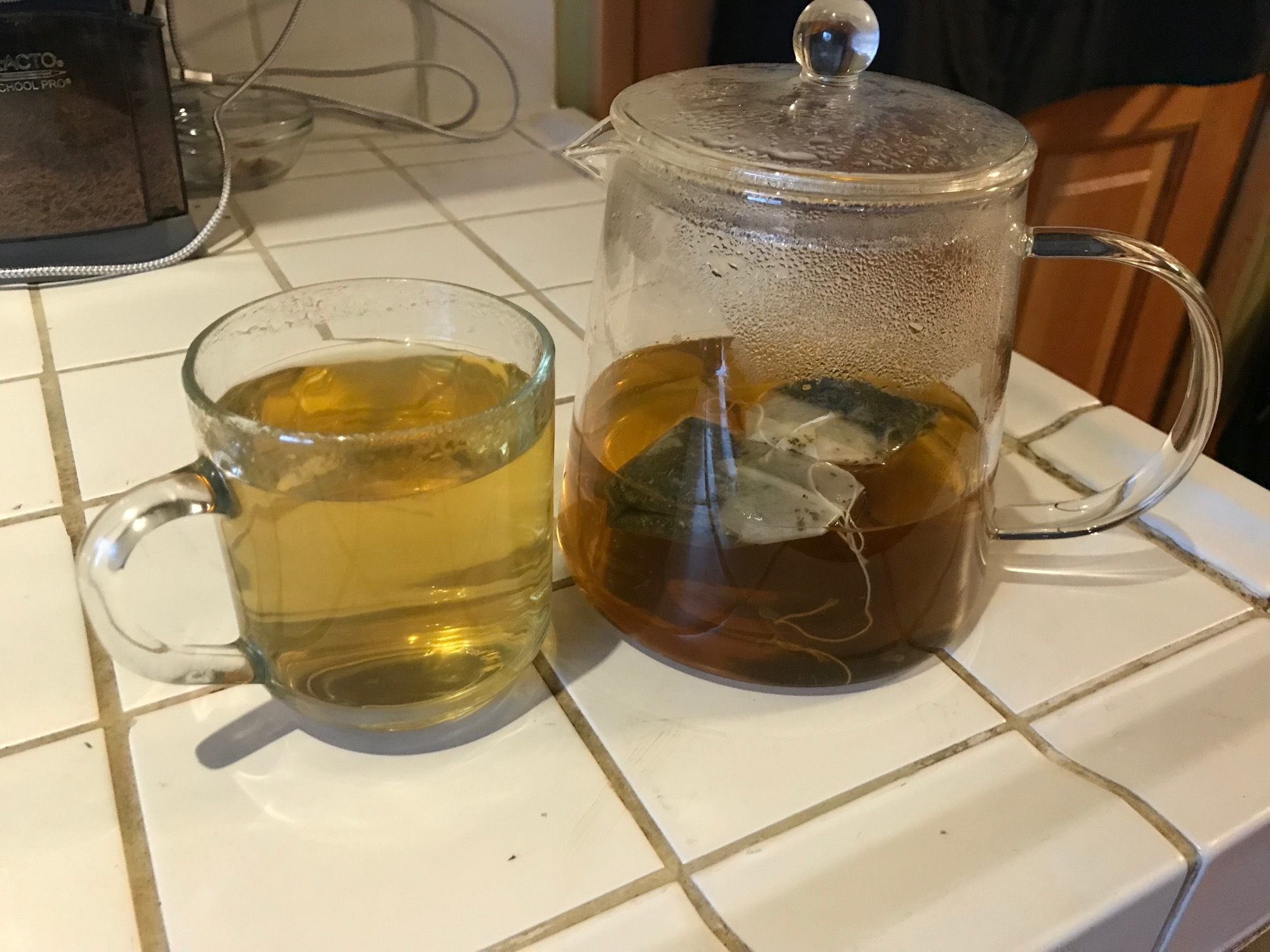 This is the clear borosilicate glass tea pot I use in my home. (Yes, it is Lead-free and stovetop safe!)