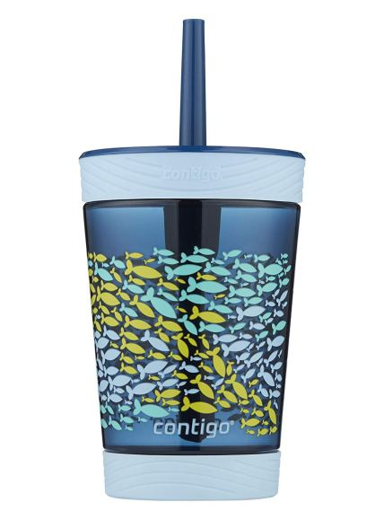 Contigo Kids Tumbler with Straw | Spill-Proof 14 oz in Nautical Blue: Negative (Non-Detect) for Lead, Cadmium & Arsenic.