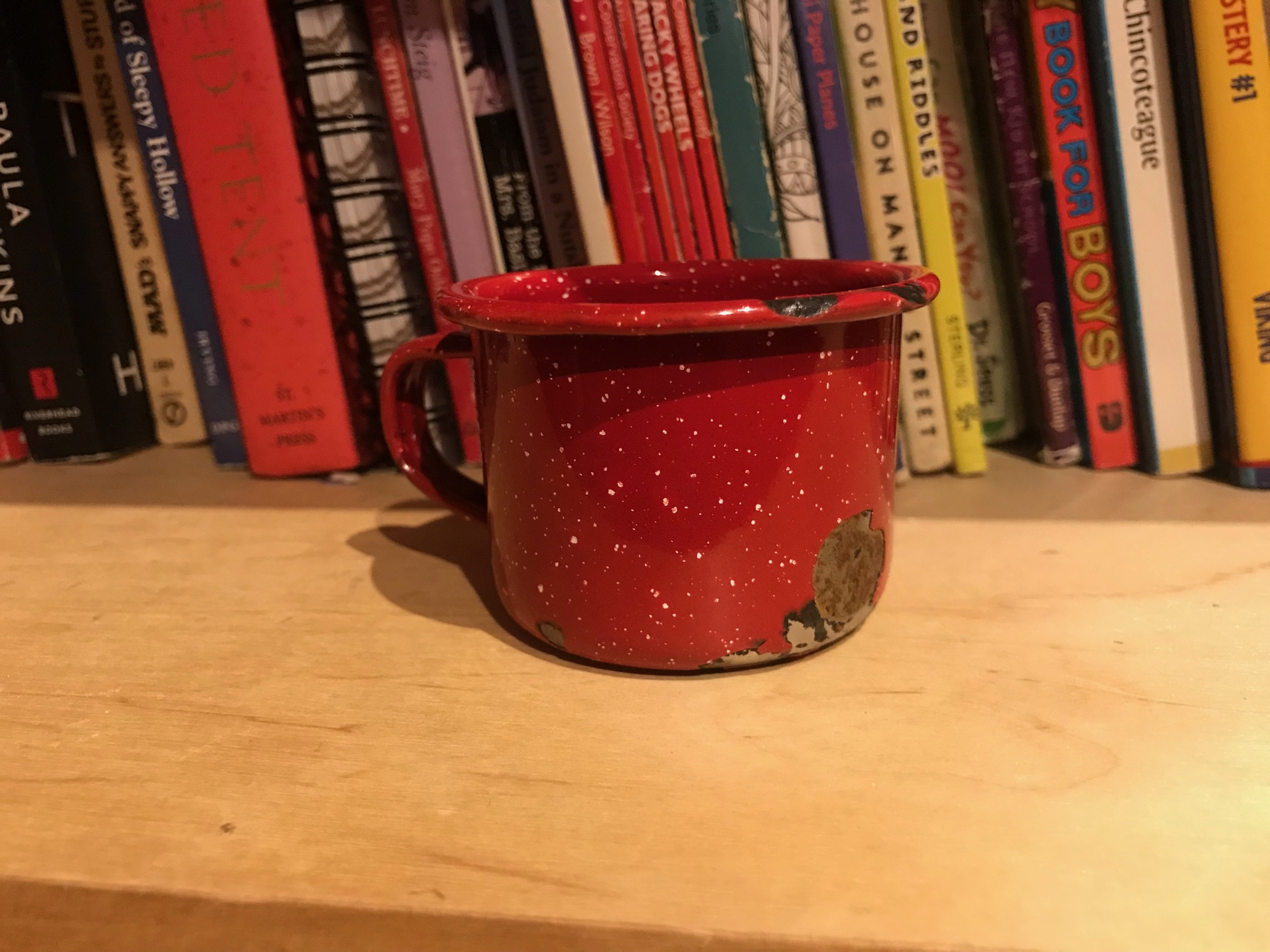 Small Red Enamelware Camping Cup / Espresso Cup: 8,851 ppm Cadmium [40 ppm Cadmium is illegal in Washington State.]