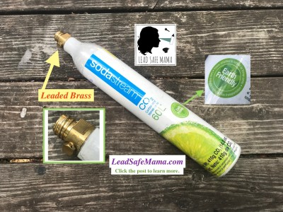 Do you let your kids touch your SodaStream? Top on SodaStream Cartridge: 31,200 ppm Lead. 90 ppm is unsafe.