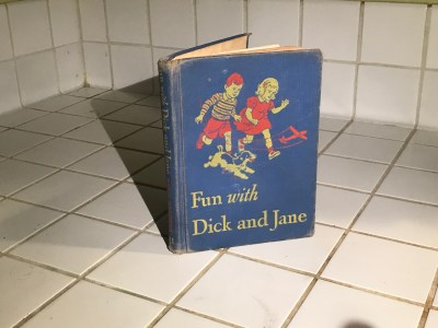 """Hardcover 1946 children's book - """"Fun with Dick and Jane"""":  1,045 ppm Lead [90 ppm is unsafe for kids.]"""