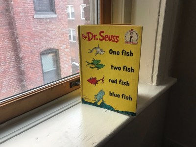 """1960 Book Club Edition Dr. Seuss' """"One fish two fish red fish blue fish"""":  97 ppm Lead. Are your kid's books safe?"""