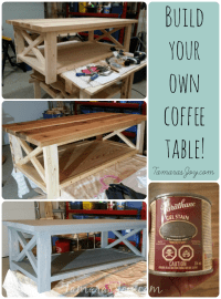 I Built my own modern DIY Coffee Table! - Tamara's Joy