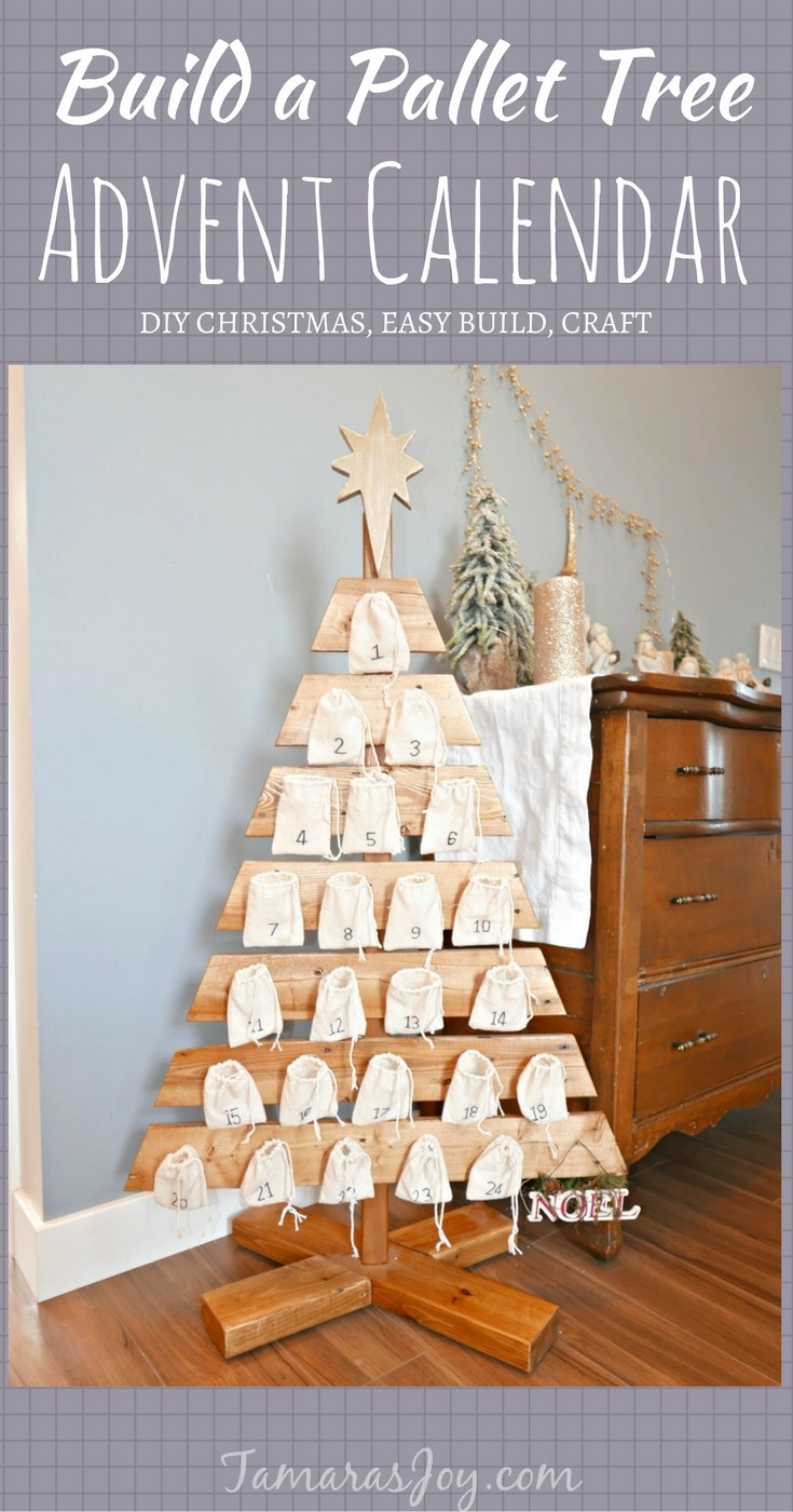 DIY Advent Calendar Tree Made From A Pallet Tamaras Joy