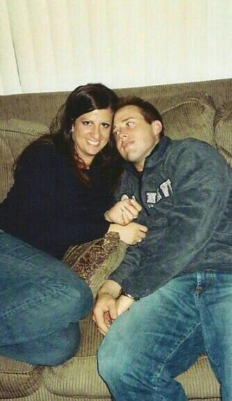Travis and Deanna during their relationship.