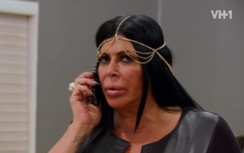 Mob Wives Big Ang takes a call from Alicia about Eddies Sentencing.